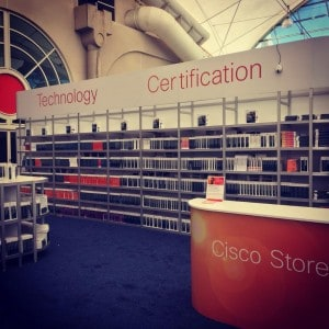 Cisco Store, providing a conference discount for any Cisco Press you might want.