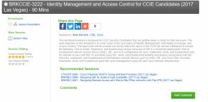 CLUS Session details