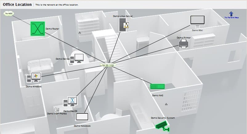 InterMapper Network Visualization
