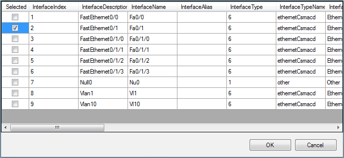 Network Config Generator Interface Selection GUI
