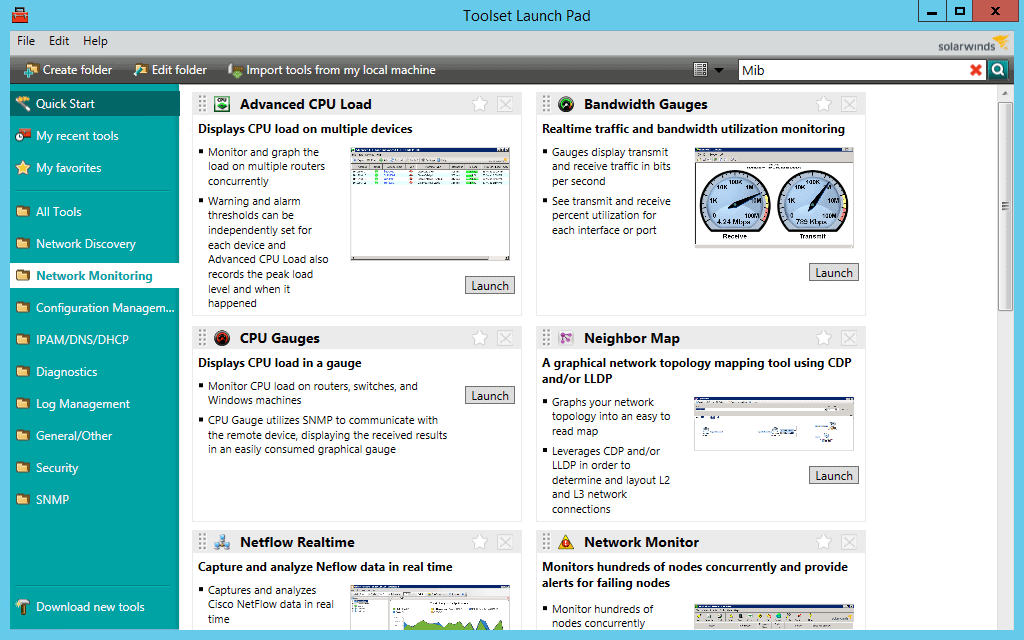 SolarWinds CPU Monitor