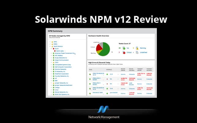 Thumbnail image for SolarWinds Network Performance Monitor 12.3 Review and Network Configuration Manager 7.8