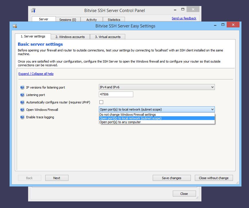 Bitvise SSH Server