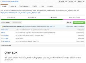 SolarWinds Orion API & SDK - Getting Started