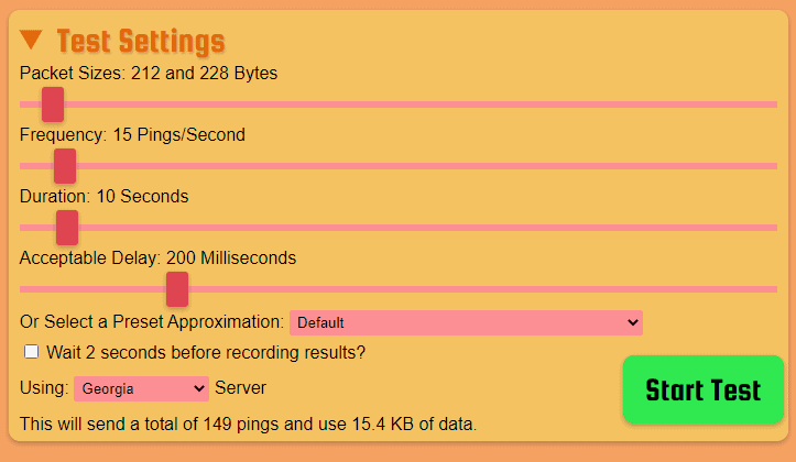 Packet Loss Test